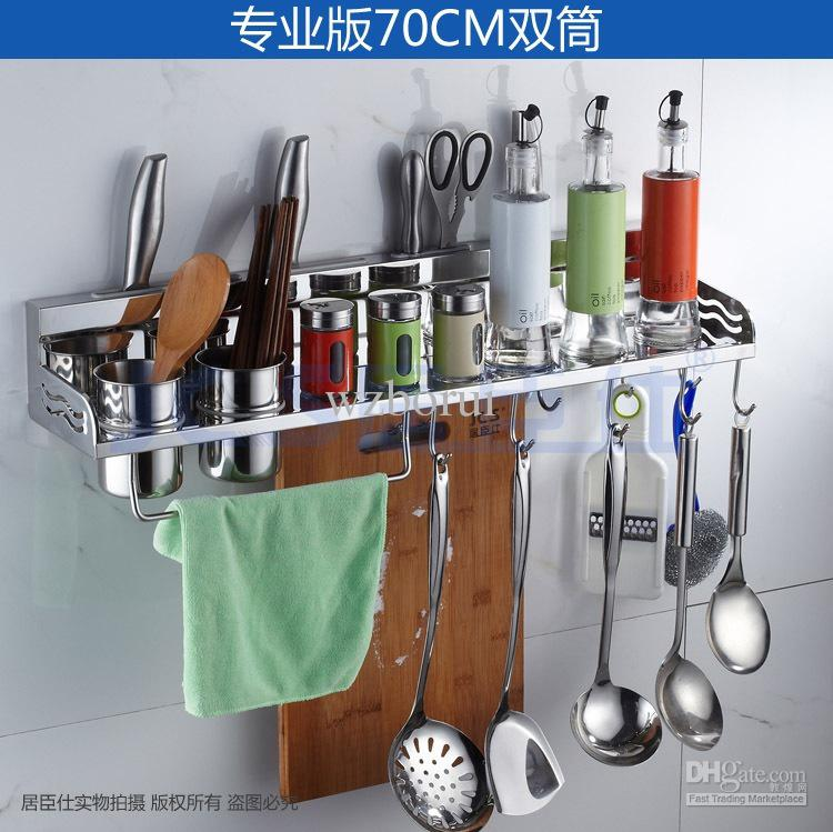 Superbe Best 304 Stainless Steel Kitchen Rack, Kitchen Shelf, Cooking Utensil Tools  Hook Rack, Kitchen Holder U0026Amp; Storage 70cm M 004a Under $127.03 |  Dhgate.Com