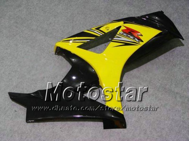 7 선물 스즈키 용 오토바이 페어링 2007 2008 GSX-R1000 07 08 GSX-R1000 K7 GSXR1000 GSX R1000 옐로우 블랙 ABS 페어링 dd81
