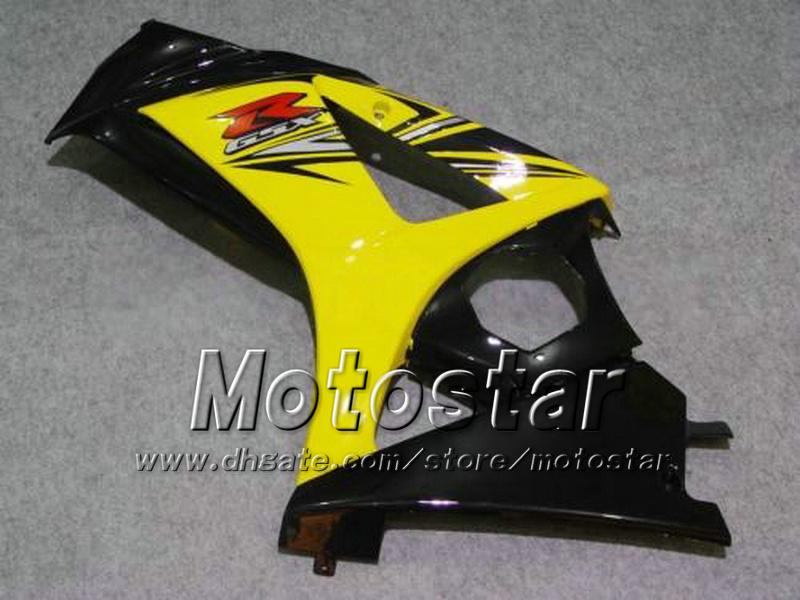 7 Cadeaux carénages de moto pour SUZUKI 2007 2008 GSX-R1000 07 08 GSX-R1000 K7 GSXR1000 GSX R1000 jaune noir carénage ABS dd81