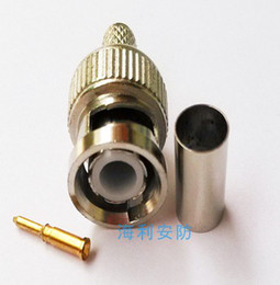 Wholesale Rg59 Bnc - 3-piece crimp BNC male connector plugs RG59 connecter Security system CATV