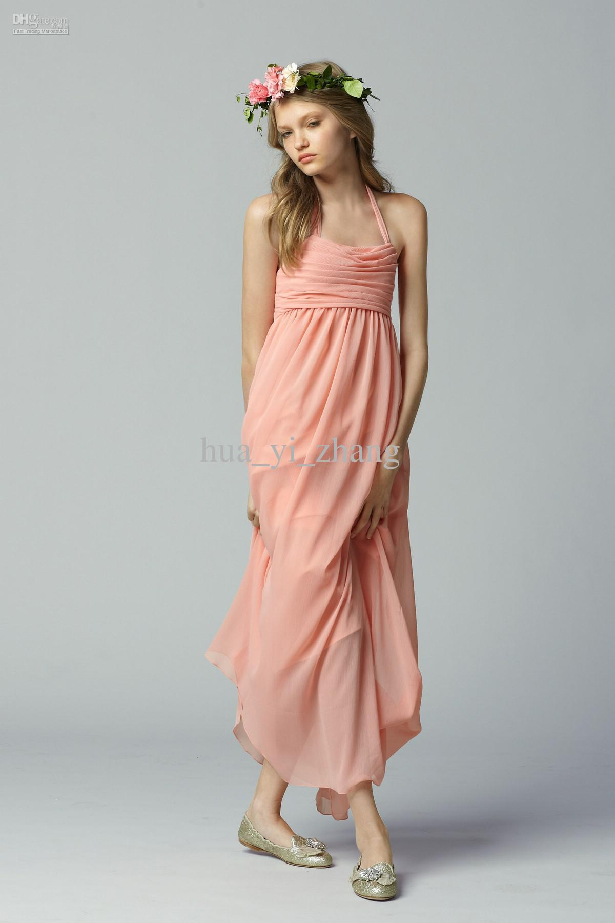 2013 coral bridesmaid dresses beach wedding a line halter neckline 2013 coral bridesmaid dresses beach wedding a line halter neckline ruffle chiffon ankle length summer dresses zj079 bridesmaide dresses bridesmaids dresses ombrellifo Choice Image