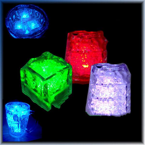 led light up ice cube water actived auto changing crystal cube for