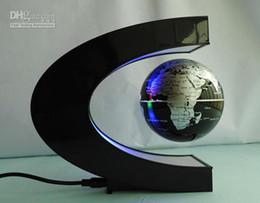Levitation Floating Globe Canada - Retail 1pcs Novelty magnetic suspension globe Magnetic Levitation Floating Globe LED Light Free Shipping for you