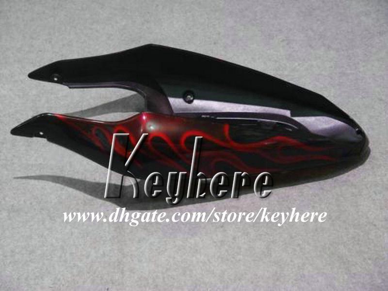 Grátis 7 presentes custom carenagem kit de corrida para SUZUKI GSX-R600 01 02 03 GSXR 600 2001 2002 2003 K1 carenagens G8q red flames black motorcycle parts