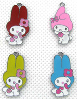 Wholesale Mixed Melodies - Lot 50 Pcs Mixed Cute My Melody DIY Metal Charms Jewelry Making pendants FREE SHIPPING