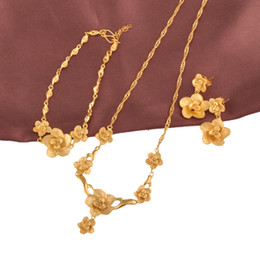 Wholesale Indian Bridal Wedding Jewelry Sets - (158S)New Arrival Bridal Flower Wedding jewelry set (24k) for Free shipping