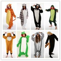 panda takım tulumları toptan satış-Toptan 2013 YENI, K pop yıldızı hayvan cosplay pijama / pijama / onesie / tulum / kostüm, tilki, pikachu, kırmızı göz panda