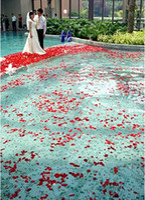 Wholesale Silk Petals Wedding Favors - Flower Wedding Decoration 1000pcs lot Red Petals Gift Favors Vintage Beautiful Wedding Party Red Silk Rose Petals