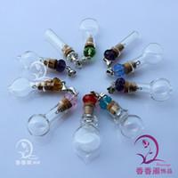 Wholesale Fairy Dust Bottles Necklace - 8MM glass wishing bottles Wishing bottle necklace vials Fairy Dust Bottles