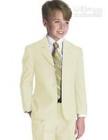 Wholesale Style Complete Designer Boy - Kid Clothing New Style Complete Designer Boy Wedding Suit Boys' Attire Boy's Formal Wear(Jacket+Pants+Tie+Vest) C812W