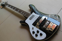 Wholesale Bass Guitar Woods - Newest china 4 String Electric Bass Guitar BLACK in left handed 130601