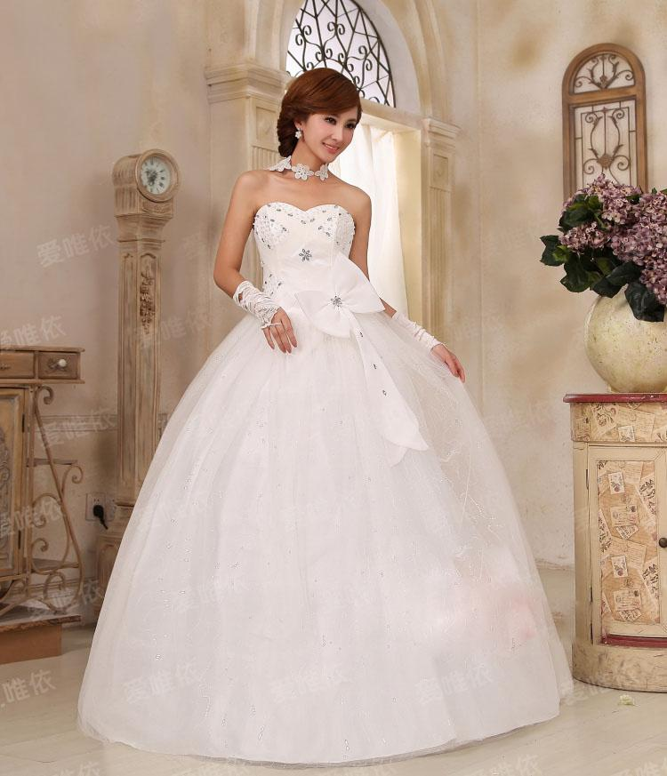 Modern Bridal Wedding Dresses Ball Gown Sweetheart Neckline ...