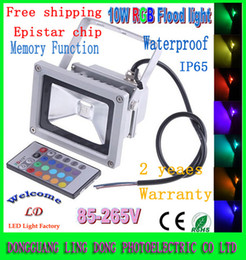 Wholesale Outdoor 12v Led Light - Wholesale 20pcs lot LED Flood Light 10W Warm White   White   RGB IR Remote led Outdoor Floodlights Waterproof 85-265V & 12V free shipping