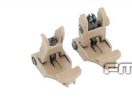FIRECULB AR-15 Rapid Tactical Polymer Front & Rear Flip-up Sight Tan free shipping