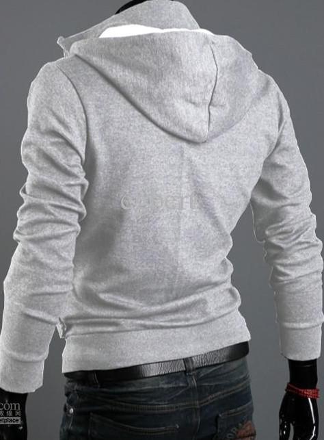 Vente chaude à manches longues avec capuche brossé Napping hoodies Gris Cardigan hommes Sweat Promotion M, L, XL, XXL, XXXL Taille Plus