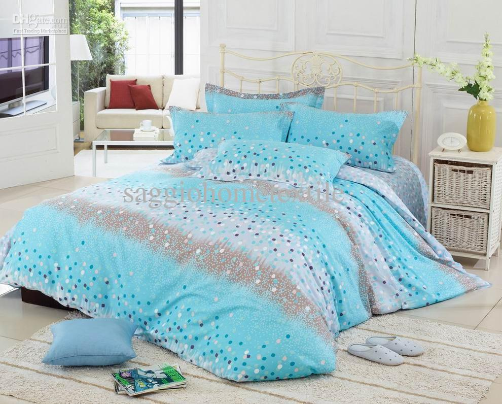 cheap bedding sets 100 cotton comforter sers beautiful soft full size bed linens cheap blue bedding set with spots hot sale cm0105054 bedding catalog buy