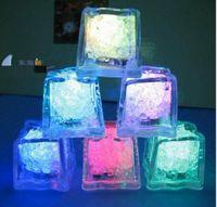 su flaş otomatik olarak toptan satış-1200 ADET Yüksek Kalite Flaş Buz Küp Su Aktif Flaş Led Işık Su Içine Koymak Flaş Otomatik olarak Parti Düğün Barlar için Noel
