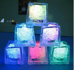 Wholesale Led Cubes - 1200PCS High Quality Flash Ice Cube Water-Actived Flash Led Light Put Into Water Drink Flash Automatically for Party Wedding Bars Christmas
