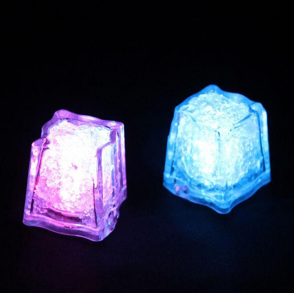 1200 ADET Yüksek Kalite Flaş Buz Küp Su Aktif Flaş Led Işık Su Içine Koymak Flaş Otomatik olarak Parti Düğün Barlar için Noel