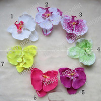 orchid chemicals - colors Children s Pearl butterfly orchid flower hair clips Baby corsage headdress girls hair accessories