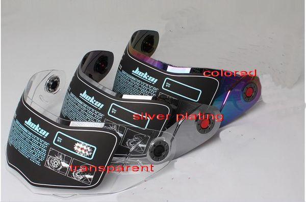 VENTE CHAUDE JIEKAI 105 moto casque lentille face ouverte casque de moto visière, ont la couleur argent transparente choisir livraison gratuite