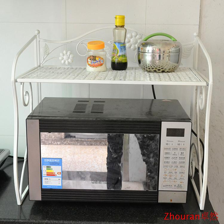 New Arrival Fashion Iron Kitchen Rack Microwave Shelf Oven Rack Seasoning Rack  Shelf