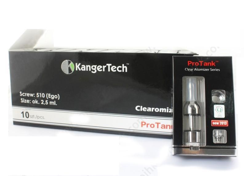 E cigarros 2.5ml BCC KanerTech Protank Glassomizer na caixa de papel