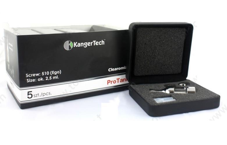 Cigarettes électroniques 2.5ml BCC Kaner Protank Glassomizer dans une boîte en cuir