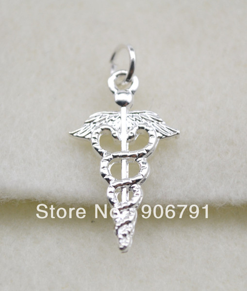 Free shipping shinny silver Medic Sign charms pendent jewelry
