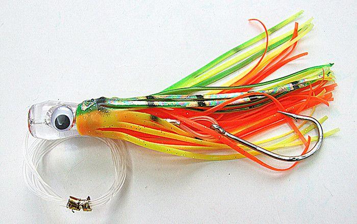 Fishing Lure Soft Bait Game Trolling esche Attrezzatura da pesca in resina testa doppia Gonna Octopus con gancio Line Due dimensioni 8.5