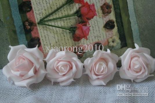 Nieuwkomers 100 stks 7cm PE-schuim kunstmatige retro stijl rose camellia bloem hoofden bruiloft kerstfeest decoratie