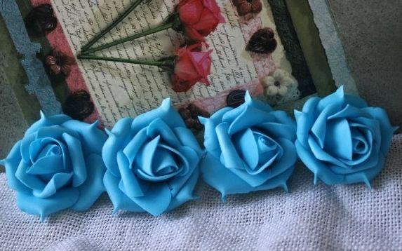 NOUVEAUTÉS 7 cm PE Mousse Artificielle Rétro Style Rose Camélia Têtes De Fleurs De Mariage Fête De Noël Décoration