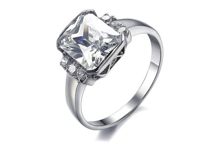 New Fashion Hearts Amp Arrows Style Titanium Ring Womens Wedding