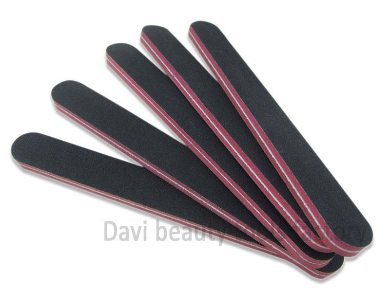 Бесплатная доставка emry доска 50 шт. / лот прямая красная губка черная наждачная бумага пилочка для ногтей #SC0312-04