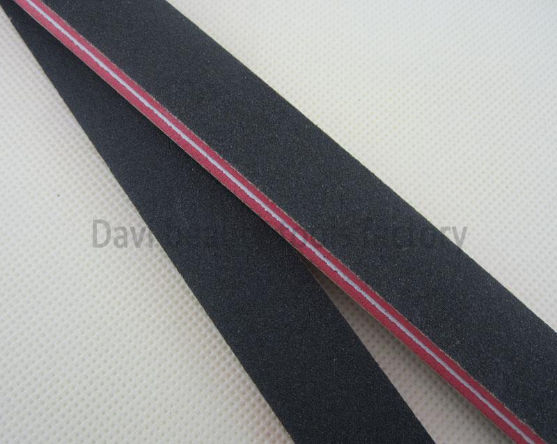 Gratis frakt EMRY Board / Parts rakt röd svamp svart sandpapper Nagelfil # SC0312-04
