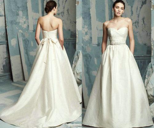 Classic Wedding Dress Satin: Discount Classic Sweetheart Satin Wedding Dresses 2013 A