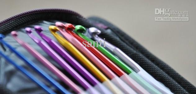 Чехол для рукоделия Алюминиевые крючки для вязания Спицы для вязания Переплетение стежков Вязание