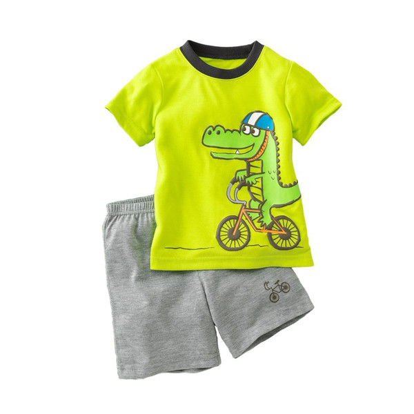 2017 Dino Boys Suits Pajamas Summer Tracksuits Children's Sets ...
