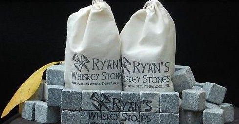Whisky stenen, speksteen drank chillers, wodka, wijn, delicate doos + fluwelen tas whiskey rock steen