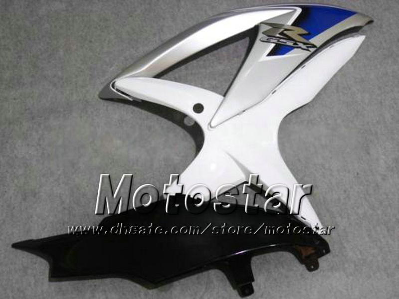 7Gifts motorcycle fairings for SUZUKI 2008 2009 2010 GSX-R600 GSX-R750 08 09 10 GSXR 600 GSXR750 K8 white black custom fairings kit ff47