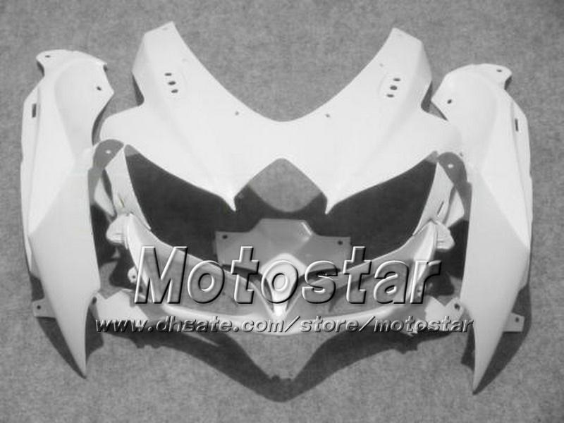 7 regali carenature moto SUZUKI 2008 2009 2010 GSX-R600 GSX-R750 08 09 10 GSXR 600 GSXR750 K8 kit carene bianco lucido ff61