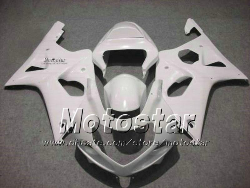 Motorcycle fairings for SUZUKI GSXR 600 750 K1 2001 2002 2003 GSXR600 GSXR750 01 02 03 R600 R750 glossy white abs fairing ff72