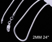 Bulk 925 silver fashion Venetian snake chain necklace hot sa...