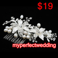New Free Shipping High Quality Crystal Pearl Stunning Weddin...