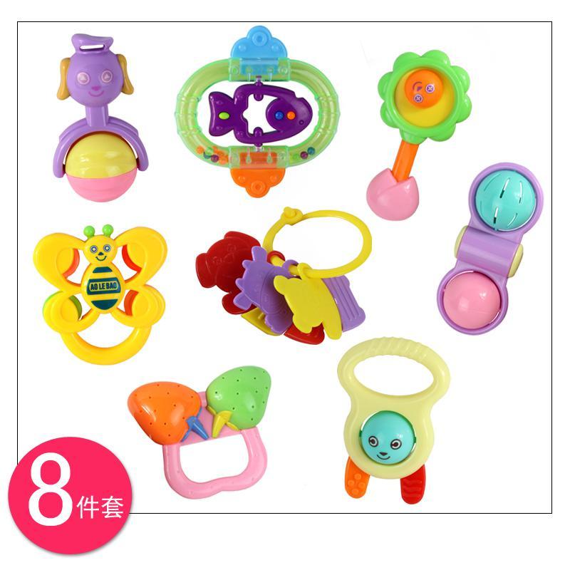 2017 4 Baby Rattle Handbell Gift Box Set Newborn Toy 0 1 ...