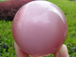 Wholesale Feng Crystals - D1D2 Hot Sell ASIAN QUARTZ PINK CAT EYE CRYSTAL BALL SPHERE 60MM + STAND