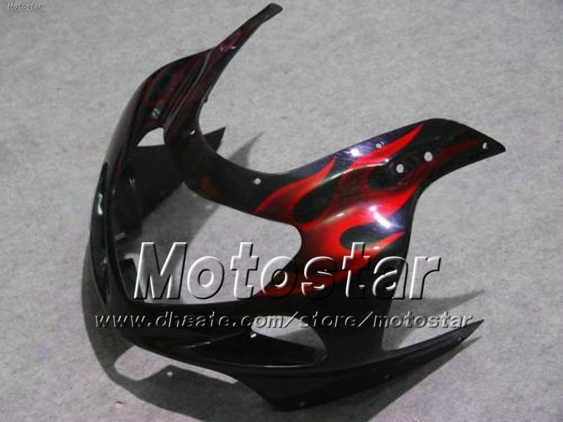 Carenature moto personalizzate con 7 marce SUZUKI GSXR 1000 K2 2000 2001 2002 GSXR1000 00 01 02 R1000 kit carenatura fiamma rossa ff93