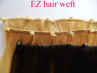 "Wholesale Easy Ring Hair Extension - MIRACLE 16"" 18"" 20"" 22"" 24"" 26""28"" easy ring EZ swift hair weft Indian human REMY hair extensions 105g black brown blond"