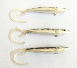 Wholesale Design Lure - 11cm 10g Soft Bait Soft Fishing Lure Fish Shape Soft Bait Fishing Tackle Unique Shape Design lifelike for salt water fresh water fish