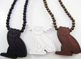 Wholesale Wood Owl Necklace - Owl Pendant Good wood NYC Hip-Hop Wooden Fashion Casual Necklace Wholesale 3 colors Mixed